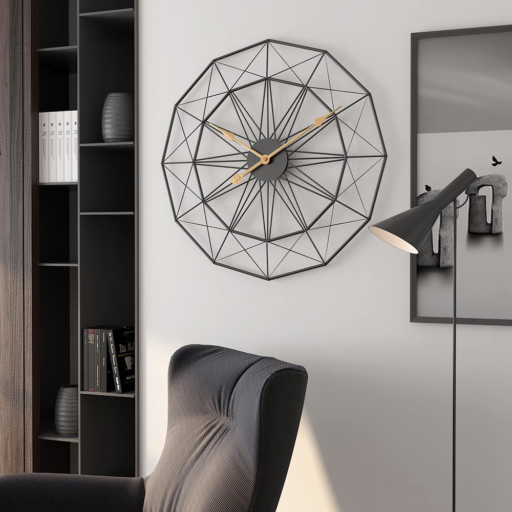 极简约挂钟北欧客厅个性静音美式钟表新款创意潮流奢华家用大挂表