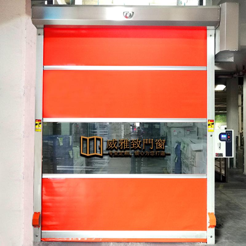 定做pvc快速卷帘门 自动升降门无尘车间工业电动感应门堆积卷闸门