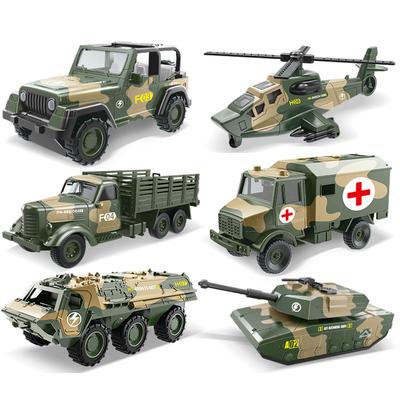 儿童男孩军事坦克模型装甲车合金回力越野车救护车消防车玩具