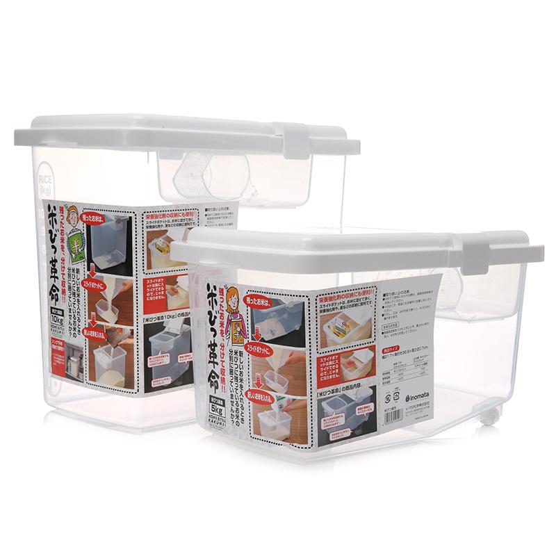 Иморт из японии inomata пластик содержит рис баррель порошок баррель домой метр цилиндр 10kg крышка шкив магазин окно