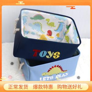 出口儿童玩具收纳筐卡通大号布艺收纳桶宝宝衣服整理箱桌面收纳篮