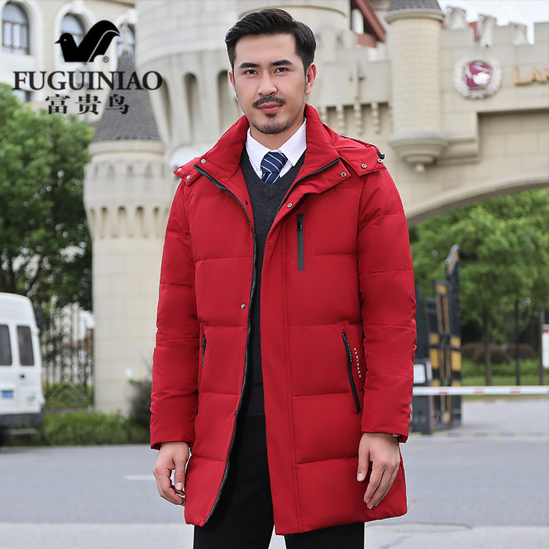 Rich bird middle aged mens coat winter 2020 new down jacket thin medium length father winter clothes