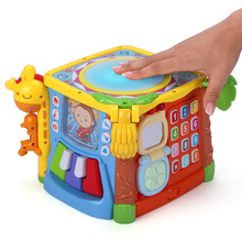 Gu Yu early education wisdom clapping drum children hand clapping drum phone drum 1-2-3-year-old baby toy music hexahedron