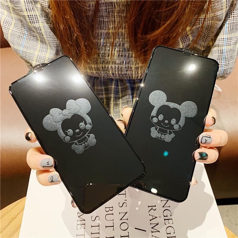米奇米妮iphoneXSMAX手机苹果X钢化膜7plus卡通XR可爱6s全屏8情(用5元券)