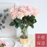 仿真花束玫瑰花客厅餐桌面装饰第5名