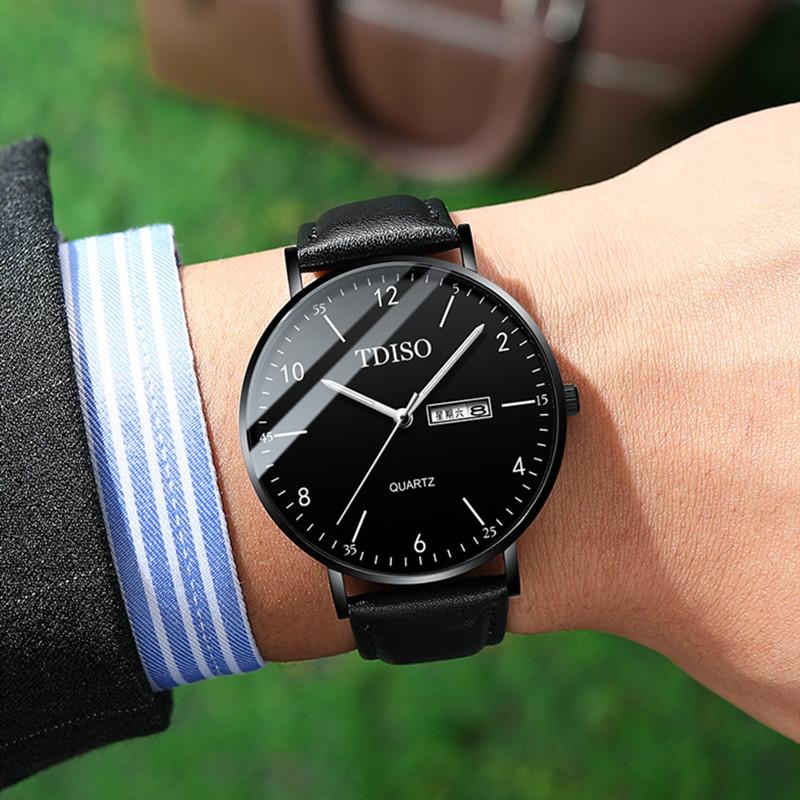 新概念超薄手表男士学生高中生机械表韩版潮流时尚石英表防水男表