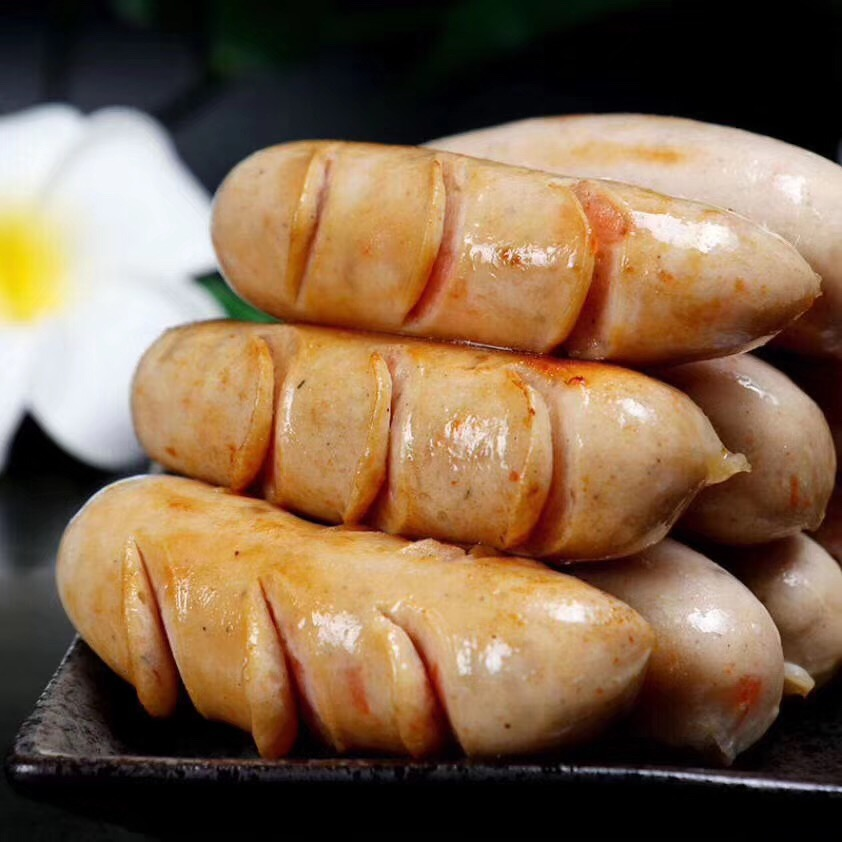 Chaoshan Raoping specialty shrimp sausage semi-finished snack food sausage seafood barbecue ingredients