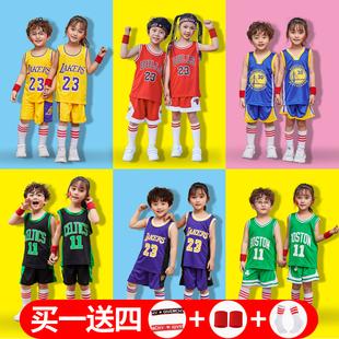 科比儿童篮球服套装男童夏球衣男孩女孩女童宝宝小童运动速干定制