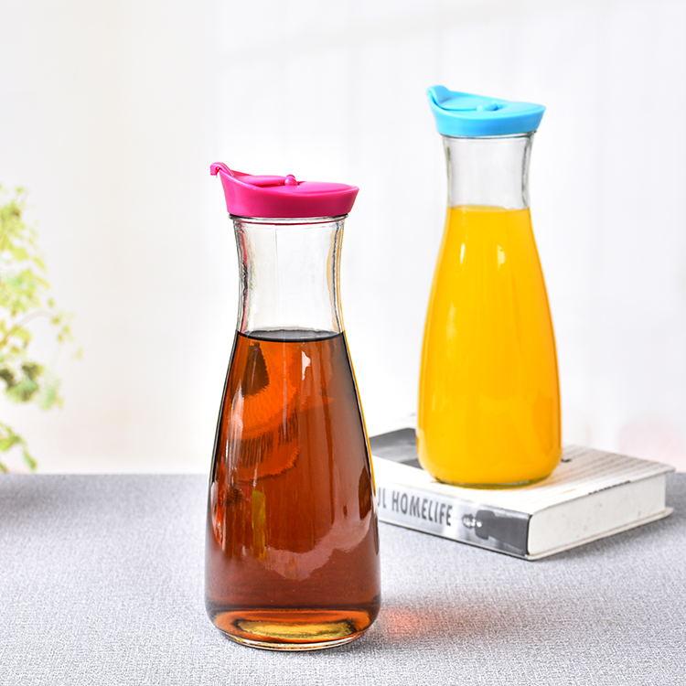 包邮巴西玻璃牛奶瓶900mL豆浆瓶果汁杯加厚大容量冷水壶密封带盖
