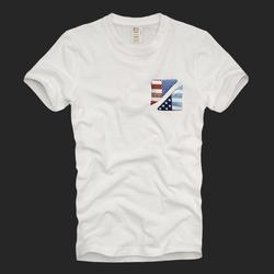 kasablanka2020夏季新款af男士短袖t恤大码美国星条旗印花休闲潮