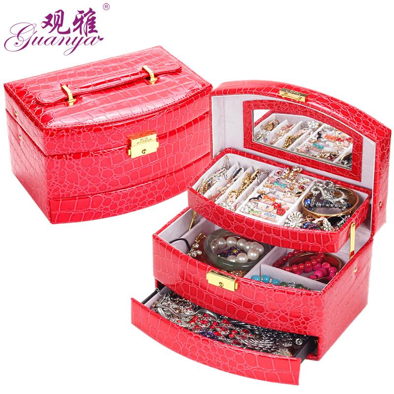 Просмотр я принцесса крокодил шаблон Кожгалантерея в континентальной штраф шкатулки косметические коробки ювелирные изделия коробки хранения