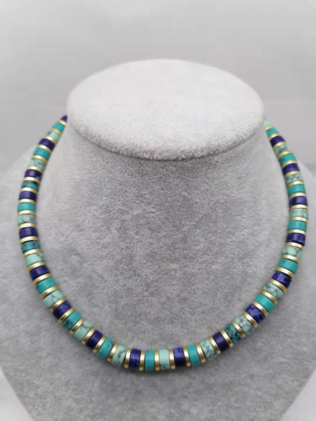 Qingdao Lihang jewelry MMA retro Western VIN stage Turquoise Set Necklace