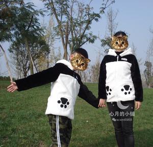 川蜀乐大熊猫衣服羊羔绒毛衣男女婴儿童装亲子秋冬装加厚保暖外套