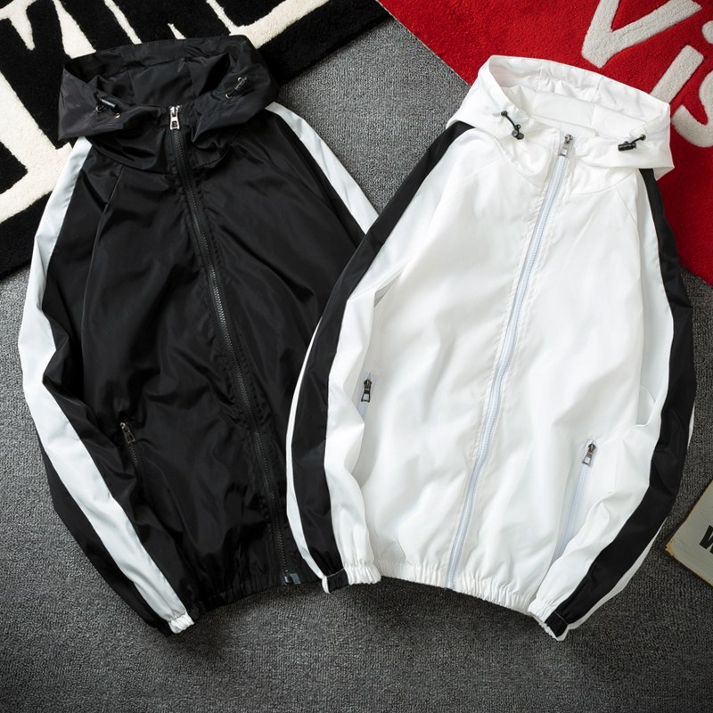 Coat mens spring and autumn 2021 new jacket Korean fashion youth student handsome sports casual top