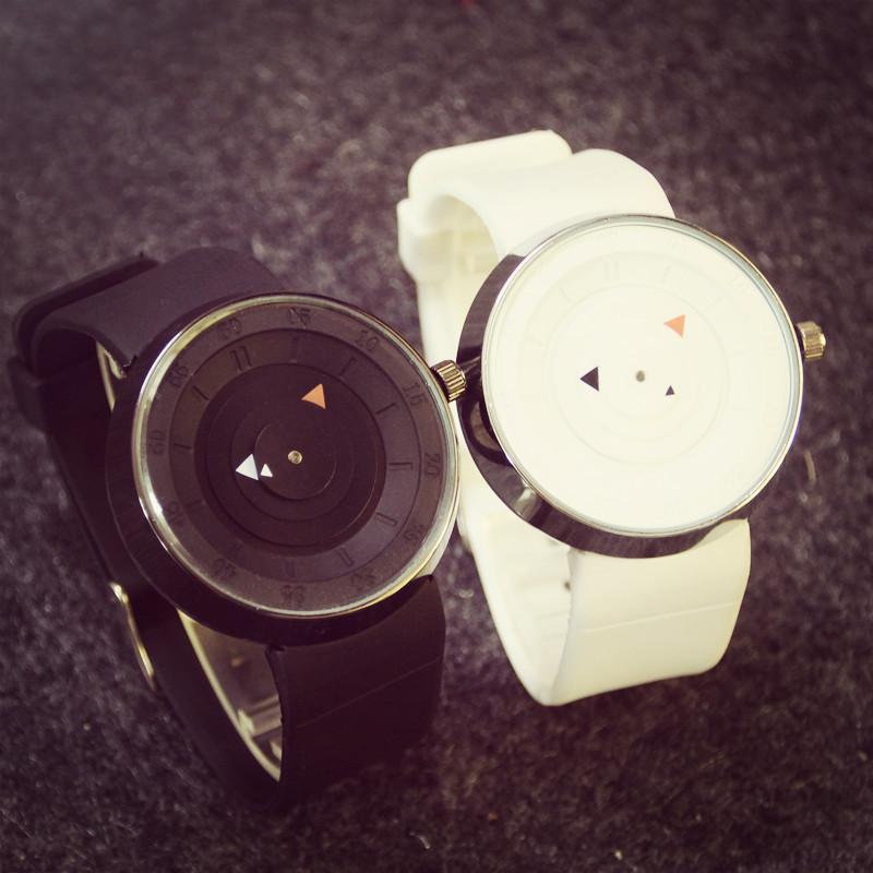 简约创意概念个性韩国时尚潮流运动科技学生防水硅胶男女石英手表
