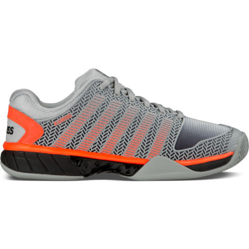 Kswiss gateway tennis shoes new mens grey mesh ventilation and shock absorption competition