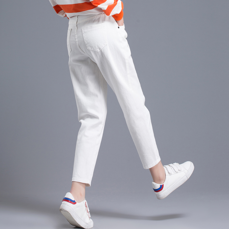 White pants women 2020 new spring and autumn women's pants harem pants loose nine-point pants old carrot pants casual pants