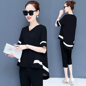 小心機時尚港味套裝2020夏季新款韓版洋氣顯瘦短袖短褲兩件套女裝
