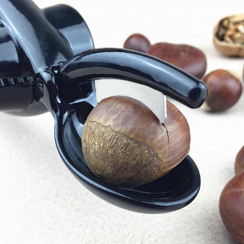 板栗开口器开核桃壳夹子剪刀不锈钢剥栗子神器板栗去皮工具送栗爪