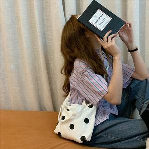 韩系chic可爱波点控少女斜挎包圆点百搭单肩斜跨包学生手提购物袋