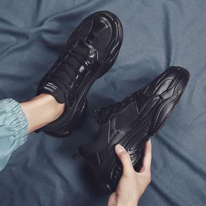 男鞋春季潮鞋ins潮流鞋子男士休闲运动鞋新款2020百搭老爹鞋黑色
