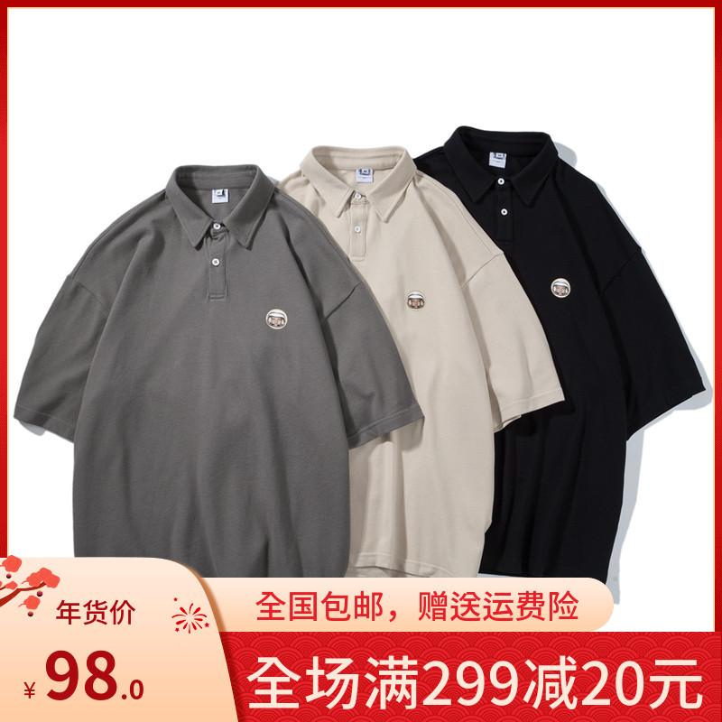 管理系同款衣服男生穿搭夏款polo衫pureピュア衬衫男港仔文艺店铺