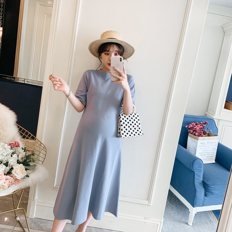 Fan loose spring summer dress sub dress net red small fresh foreign spirit fairy 2020 spring fashion mother fashion pregnant woman
