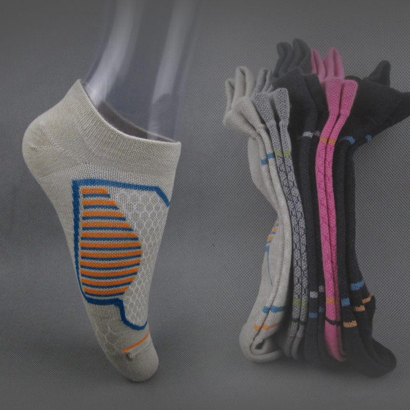 运动女袜薄款彩色女士船袜短筒低帮袜分左右无骨缝头春夏季休闲袜