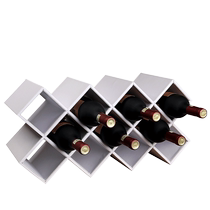 Wooden red wine rack decoration creative modern simple household wine rack European style