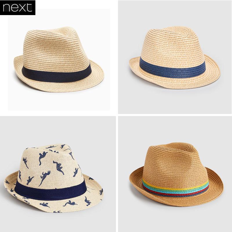 部分现货英国进口NEXT童装 18春男宝宝男童素色礼帽遮阳帽帽子