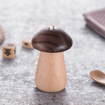 Onlycook Creative Home High-grade walnut toothpick tube with hole personality portable toothpick box Toothpick tank simple
