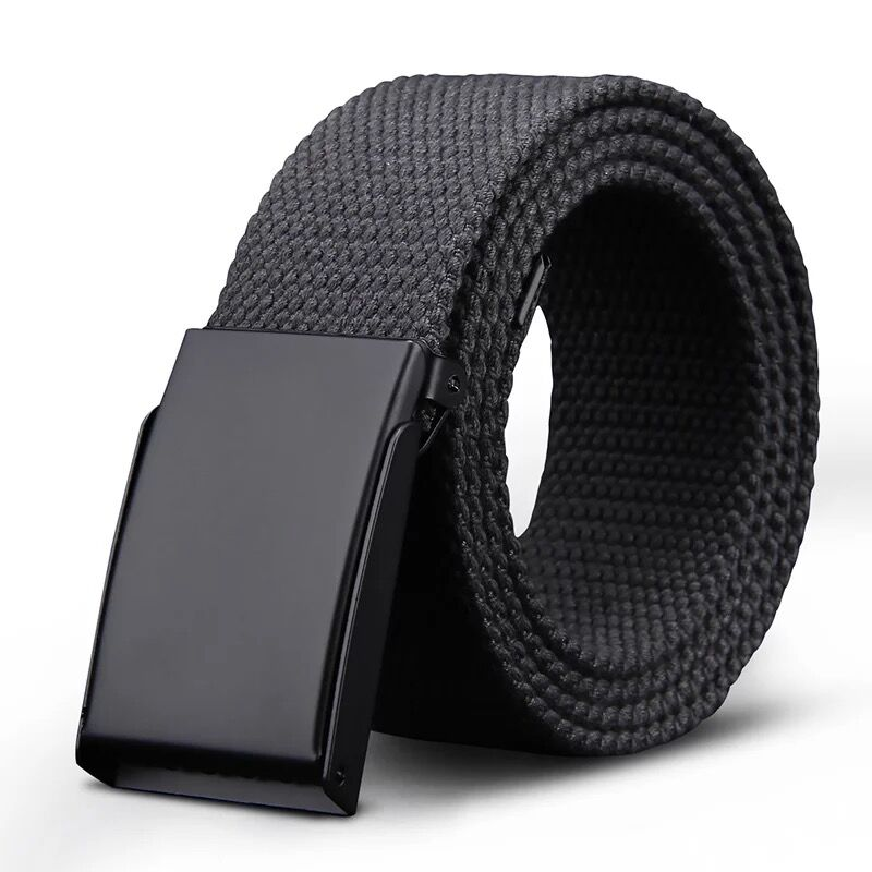 Canvas belt smooth board mens and womens leisure military tactical belt military buckle trouser belt national mail package