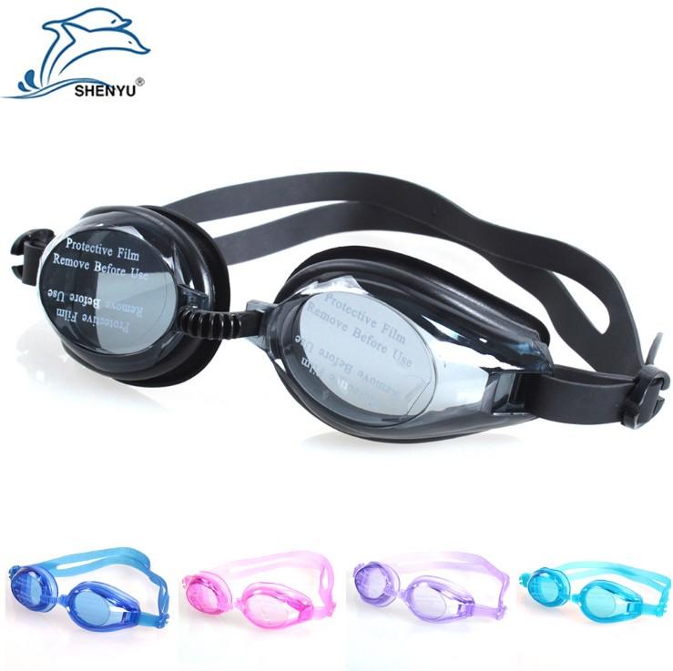 (用15.2元券)成人儿童泳镜光学镜片5色游泳眼镜