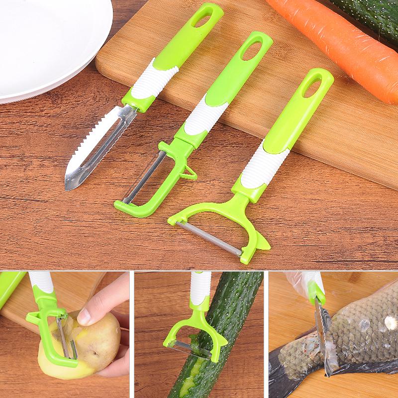多功能家用水果削皮器不锈钢削皮刀多功能苹果去皮剥皮刀刨皮器