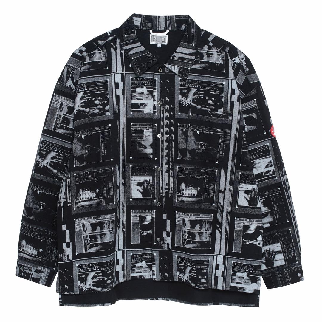 自主自产 X 18SS Cavempt C.E PRINTED SHIRT JACKET鬼手夹克衬衫