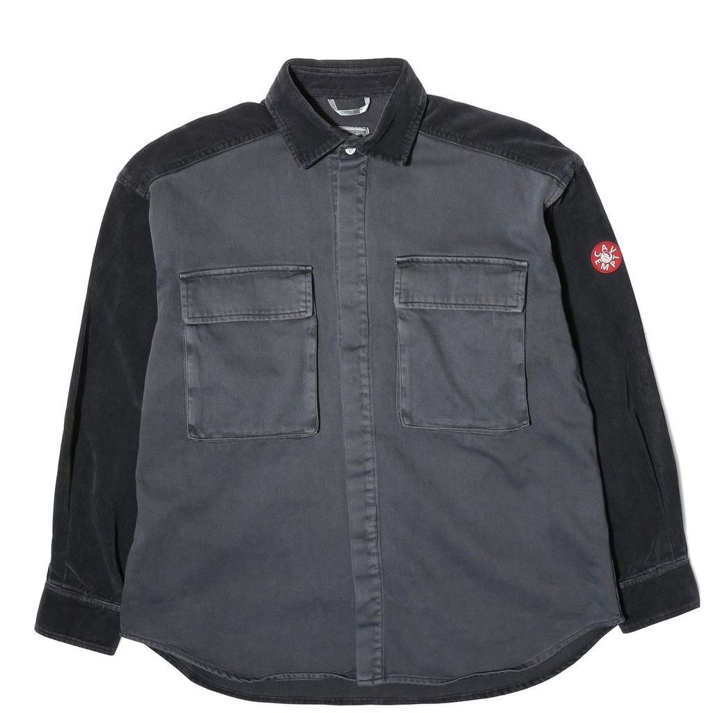 自主自产 X  18AW CAVEMPT Twill Shirt Charcoal灯芯绒夹克衬衫