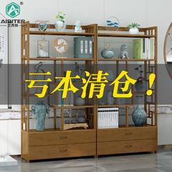 博古架实木中式书架多宝阁古董架仿古家具茶叶柜茶具展示柜置物架