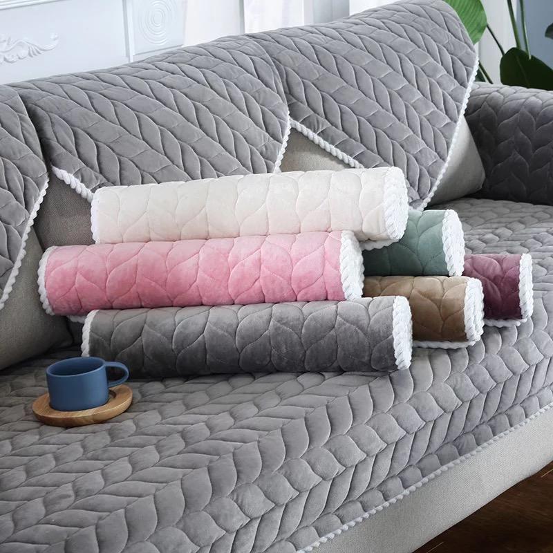 短毛绒沙发垫冬季布艺防滑通用型坐垫子简约现代加厚特价全包套罩