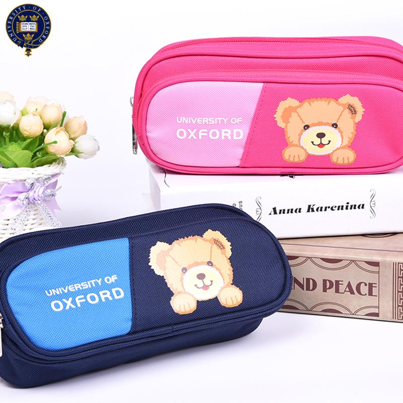 小学生笔袋女童铅笔盒公主牛津大学儿童文具盒韩国笔盒大容量10岁