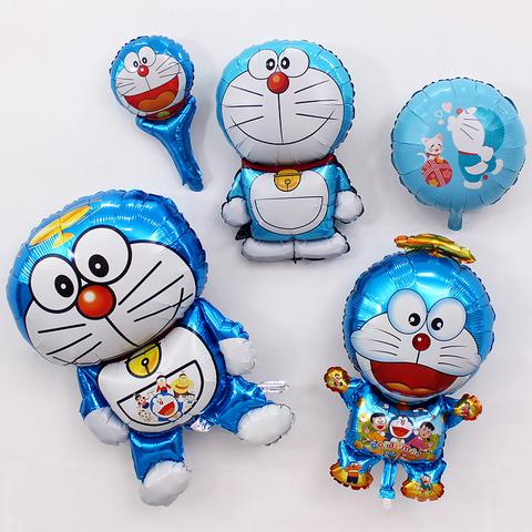 哆啦A梦机器猫叮当猫卡通主题布置铝膜气球儿童宝宝生日派对装饰