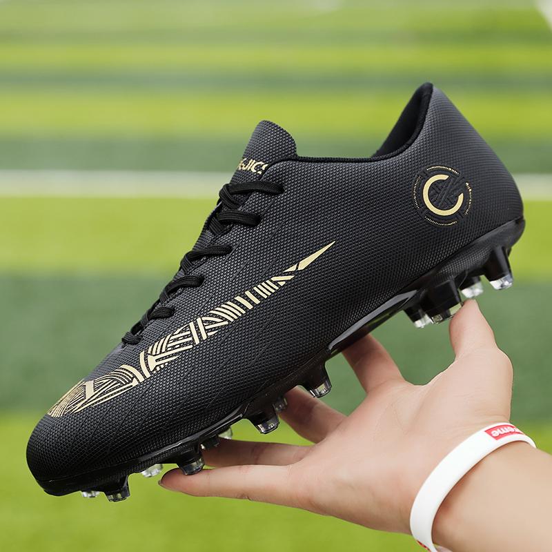 12月01日最新优惠C罗CR7足球鞋长钉ag碎钉tf人造草地训练鞋男女学生儿童成人梅西12