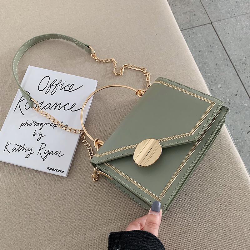 洋气小包包女2020夏季新款时尚手提韩版单肩包百搭斜挎链条小方包图片