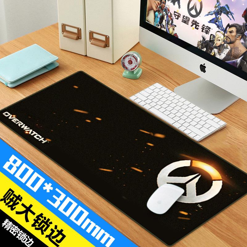 超大鼠标垫 LOL游戏卡通键盘垫可爱个性桌垫加厚cf加厚笔记本桌垫热销61件限时2件3折