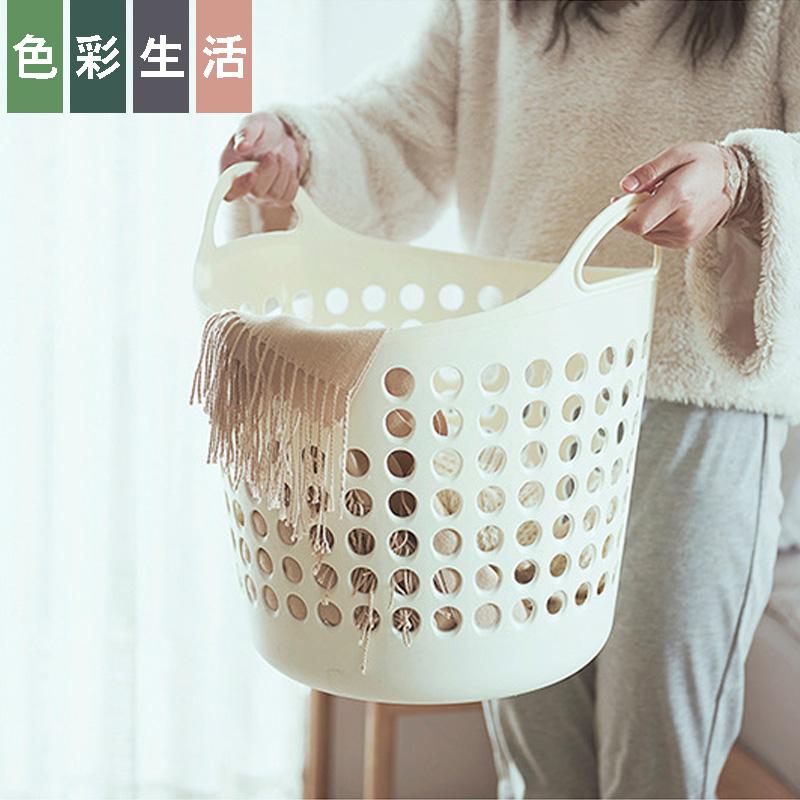 卫生间手提脏衣篮子软塑料洗衣篓玩具整理大号浴室脏衣服收纳筐
