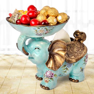 乔迁结婚礼物创意客厅新年装饰品纸巾盒收纳大象摆件开业礼品招财