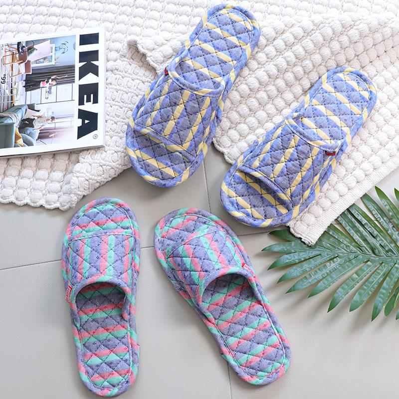 北欧布底拖鞋无声木地板专用拖鞋男女室内软底静音家居家用夏季天