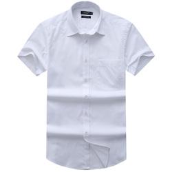 ARROW美国箭牌商务正装白色男衬衫纯棉免烫短袖衬衣蓝色上班衬衫