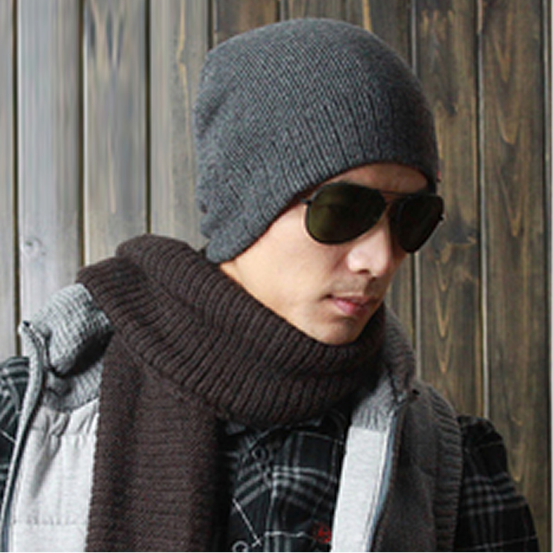 Winter mens wool blended warm hat with cashmere mens winter woolen hat