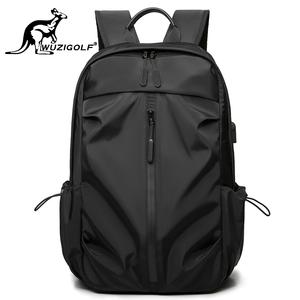 彬澳袋鼠韩版双肩背包男士商务休闲电脑包防水旅行包潮流学生书包