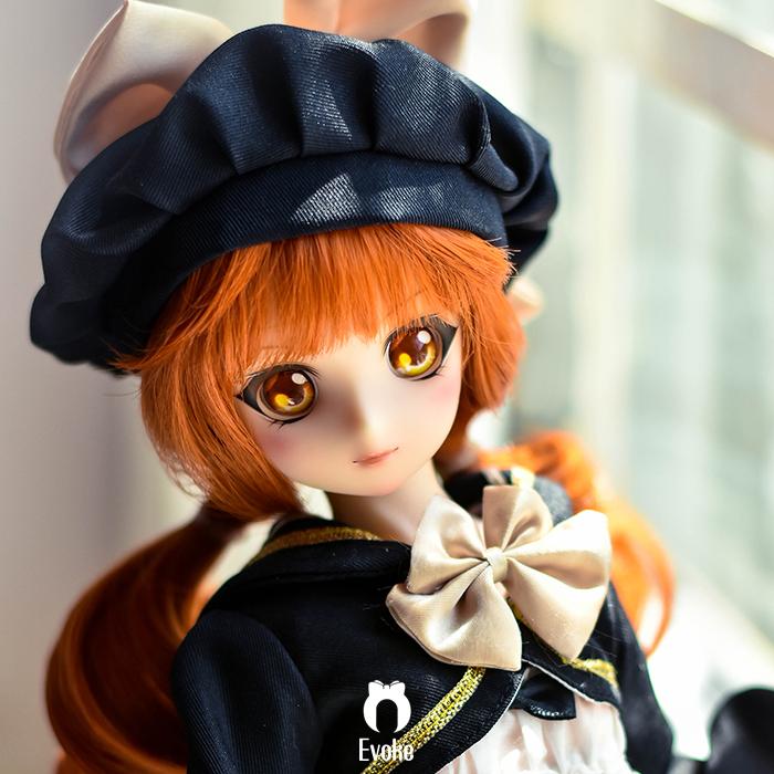 【EverokeDoll】P.P樹脂ヘッド1/4シリカゲル人形包装ゴム体BJD/SFD/DDボディ